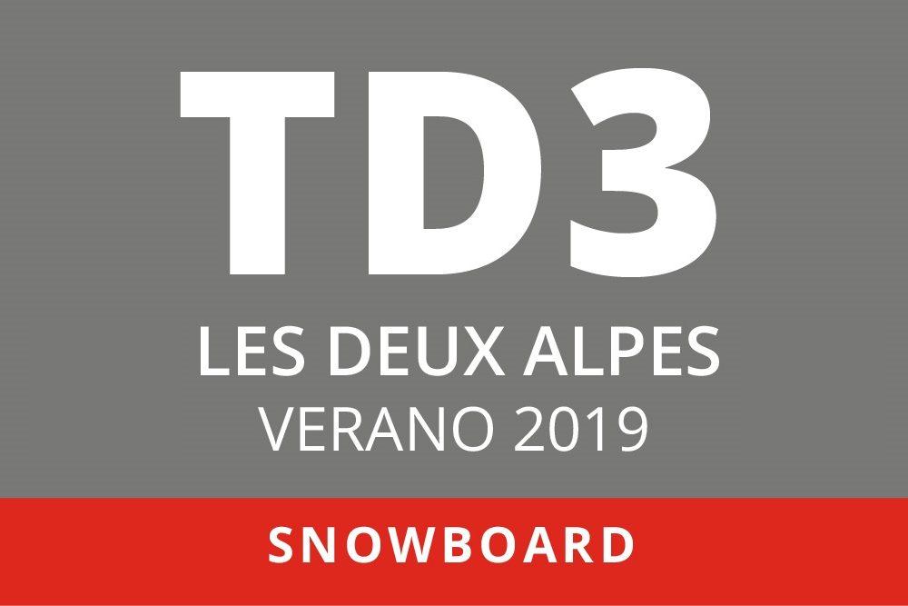 Convocatoria de TD3 en Snowboard. Sierra Nevada – Les Deux Alpes