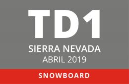 Convocatoria de TD1 en Snowboard. Sierra Nevada, abril de 2019