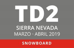 Convocatoria de TD2 en Snowboard. Sierra Nevada, Marzo y Abril 2019