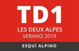 Convocatoria de TD1 en Esquí Alpino. Les Deux Alpes, verano 2019.