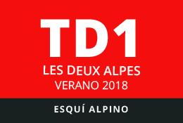 Convocatoria de TD1 en Esquí Alpino. Les Deux Alpes, verano 2018.