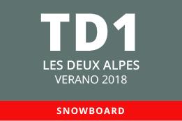 Convocatoria de TD1 en Snowboard. Les Deux Alpes, verano 2018