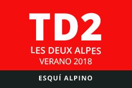 Convocatoria de TD2 en Esquí Alpino. Les Deux Alpes, verano 2018