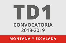 TD1 Montaña y Escalada: convocatorias 2018/2019