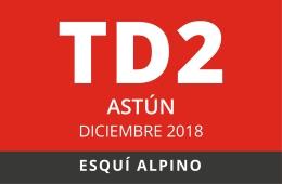 Convocatoria bloque específico TD2 de esquí alpino en Astún. Diciembre – Enero