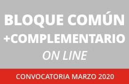 Bloque común y complementario a distancia. Convocatoria marzo 2020