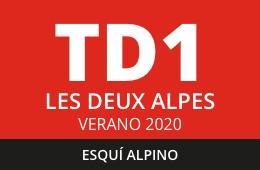 Convocatoria de TD1 en Esquí Alpino. Les Deux Alpes, verano 2020.