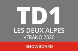 Convocatoria de TD1 en Snowboard. Les Deux Alpes, verano 2020