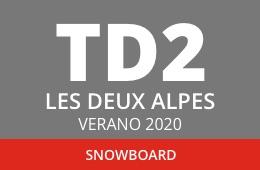Convocatoria de TD2 en Snowboard. Les Deux Alpes, verano 2020