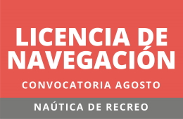 convocatoria licencia de navegacion agosto 2020