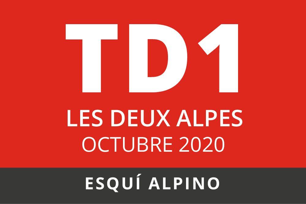 Convocatoria de TD1 en Esquí Alpino. Les Deux Alpes, Otoño 2020.