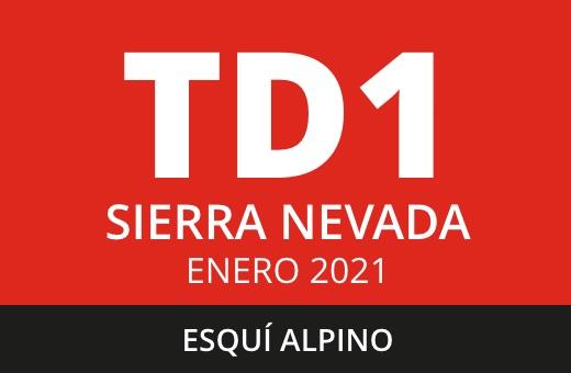 Convocatoria de TD1 de Esquí Alpino. Sierra Nevada. Enero 2021.
