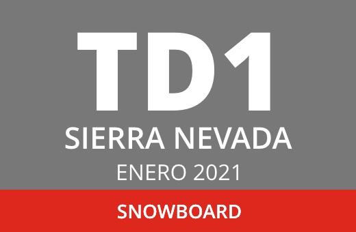 Convocatoria de TD1 en Snowboard. Sierra Nevada. Enero 2021.