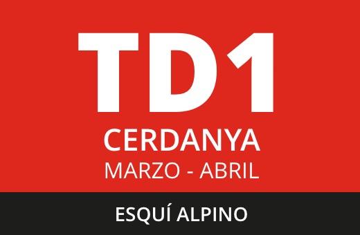 Convocatoria de TD1 de Esquí Alpino. La Cerdanya. Marzo – abril 2021