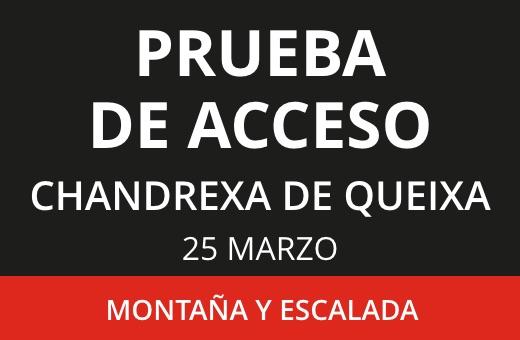 Prueba de Acceso: TD1 Montaña y Escalada Marzo 2021
