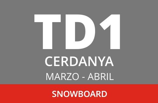 Convocatoria de TD1 de Snowboard. La Cerdanya. Marzo – abril 2021
