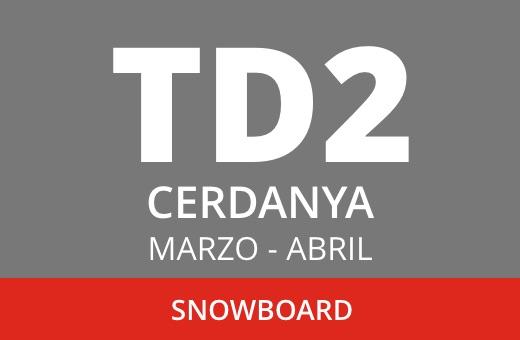 Convocatoria de TD2 de Snowboard. La Cerdanya. Marzo – abril 2021