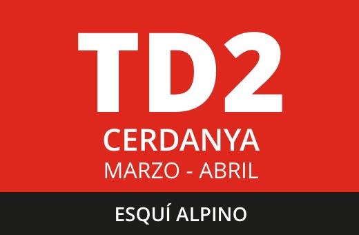 Convocatoria de TD2 Esquí Alpino. La Cerdanya. Marzo – abril 2021