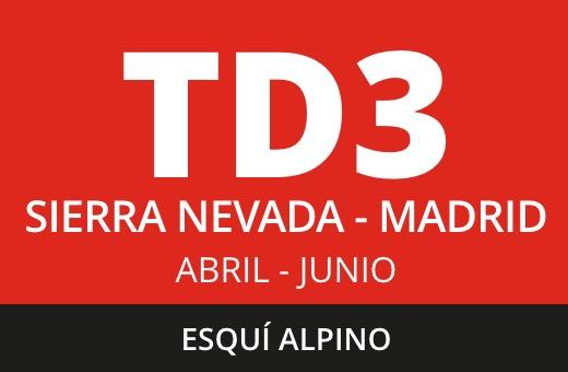 Convocatoria de TD3 Esquí Alpino. Sierra Nevada – Madrid. Abril – junio 2021