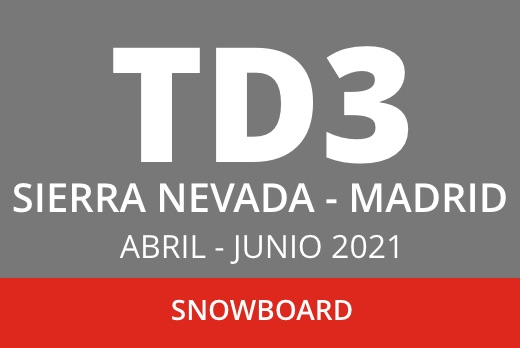Convocatoria TD3 en Snowboard. Sierra Nevada – Madrid. Abril – junio 2021