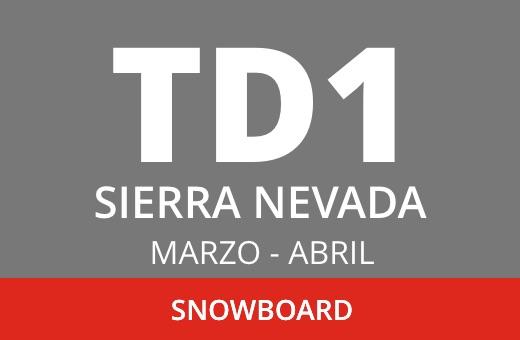 Convocatoria de TD1 en Snowboard. Sierra Nevada. Marzo – abril 2021