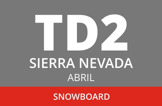 Convocatoria de TD2 en Snowboard. Sierra Nevada. Abril 2021