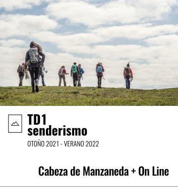 TD1 Grado Medio Senderismo. Cabeza de Manzaneda / On Line. 2021-2022